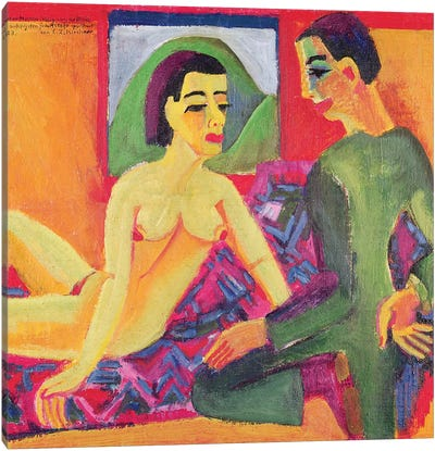 The Couple, 1923  Canvas Art Print