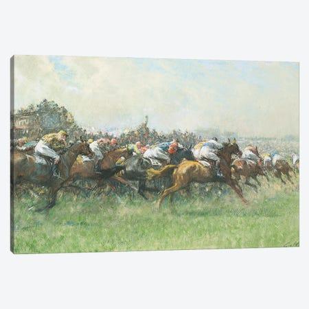 Tattenham Corner, The Epsom Derby Canvas Print #BMN11601} by Gilbert Holiday Canvas Artwork