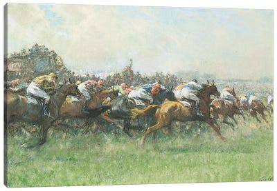 Tattenham Corner, The Epsom Derby Canvas Art Print