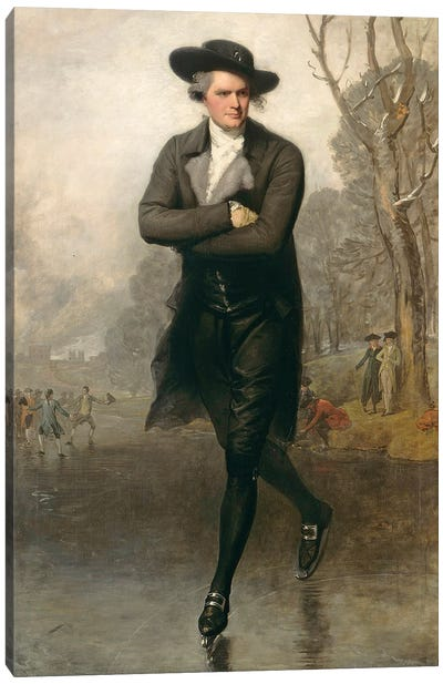 The Skater (Portrait of William Grant), 1782 Canvas Art Print