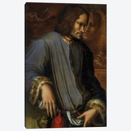 Portrait Of Lorenzo de Medici (with Frame), c.1533-34 Canvas Print #BMN11603} by Giorgio Vasari Canvas Artwork