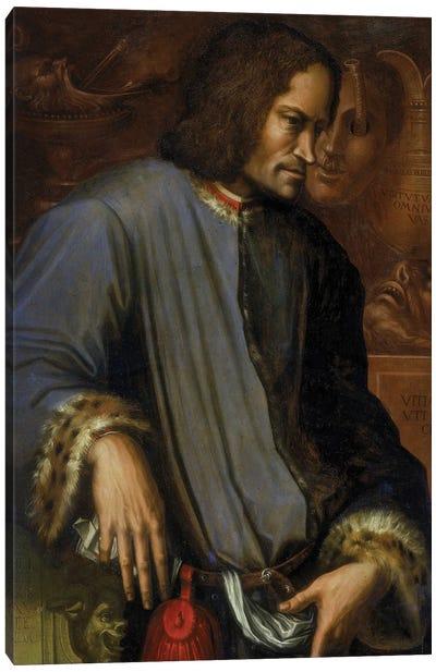 Portrait Of Lorenzo de Medici (with Frame), c.1533-34 Canvas Art Print