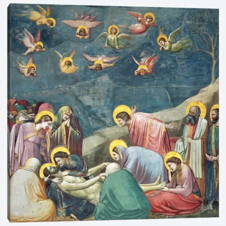 Lamentation (The Mourning Of Christ), c.1304-06 Canvas Print #BMN11611} by Giotto Art Print