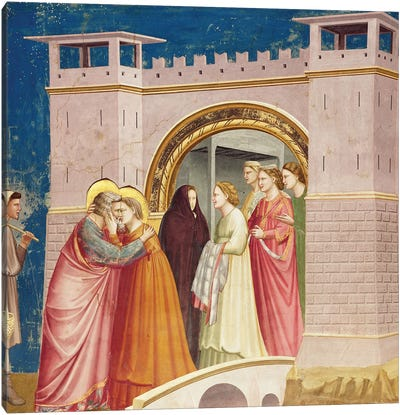 Meeting At The Golden Gate, c.1304-06 Canvas Art Print