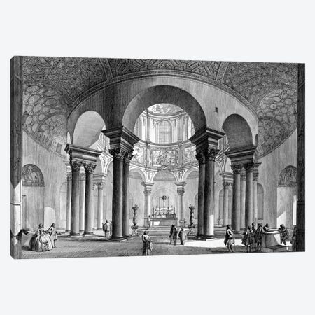 Internal View Of The Sepulcher of Santa Costanza (Etching From Views Of Rome), 1758 Canvas Print #BMN11615} by Giovanni Battista Piranesi Canvas Wall Art
