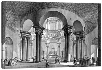 Internal View Of The Sepulcher of Santa Costanza (Etching From Views Of Rome), 1758 Canvas Art Print