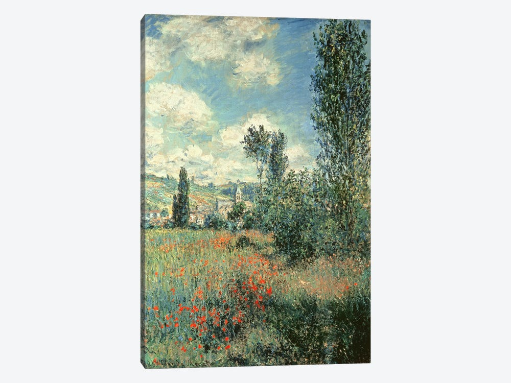 Path through the Poppies, Ile Saint-Martin, Vetheuil, 1880  by Claude Monet 1-piece Art Print