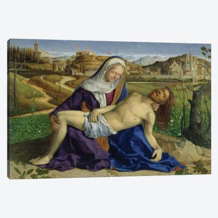 Pietà (Post-Restoration) Canvas Print #BMN11622} by Giovanni Bellini Canvas Art