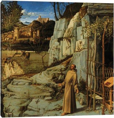 St. Francis In The Desert, c.1476-78 Canvas Art Print