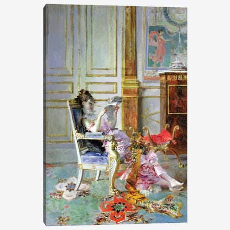 Girl Reading In A Salon, 1876 Canvas Print #BMN11627} by Giovanni Boldini Canvas Print