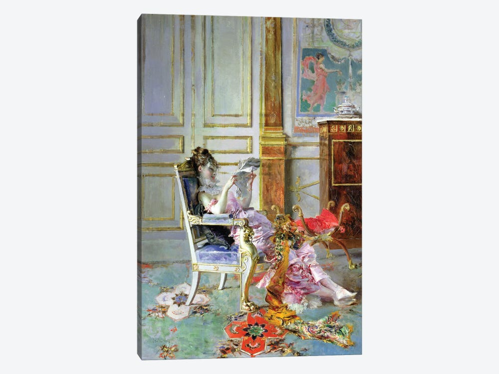 Girl Reading In A Salon, 1876 by Giovanni Boldini 1-piece Art Print