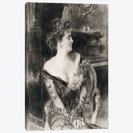 Portrait Of Madame X, c.1901-02 Canvas Print #BMN11628} by Giovanni Boldini Canvas Artwork