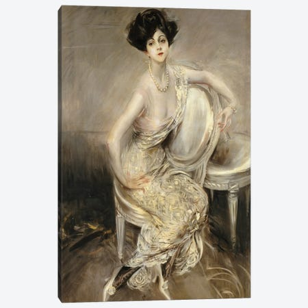 Portrait Of Rita de Acosta Lydig, 1911 Canvas Print #BMN11629} by Giovanni Boldini Canvas Artwork