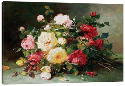 A Bouquet of Roses Canvas Art Print