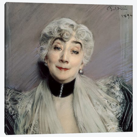 Portrait Of The Countess de Martel de Janville, Known As Gyp, 1894 Canvas Print #BMN11630} by Giovanni Boldini Canvas Art Print