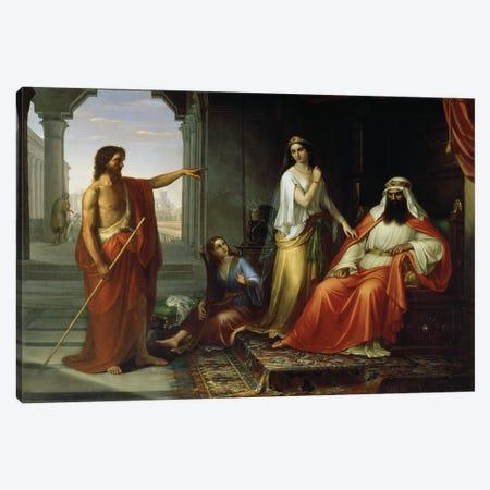 St. John The Baptist Rebuking Herod Canvas Print #BMN11633} by Giovanni Fattori Art Print