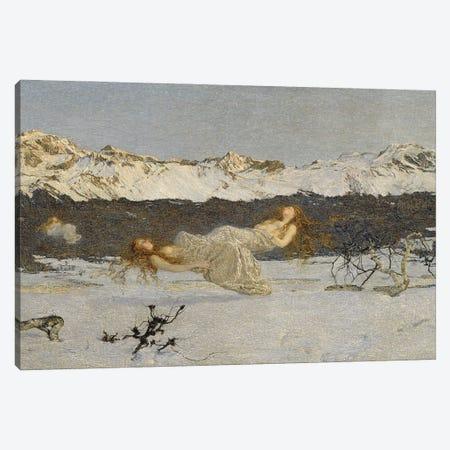 The Punishment Of Lust, 1891 Canvas Print #BMN11639} by Giovanni Segantini Canvas Art Print