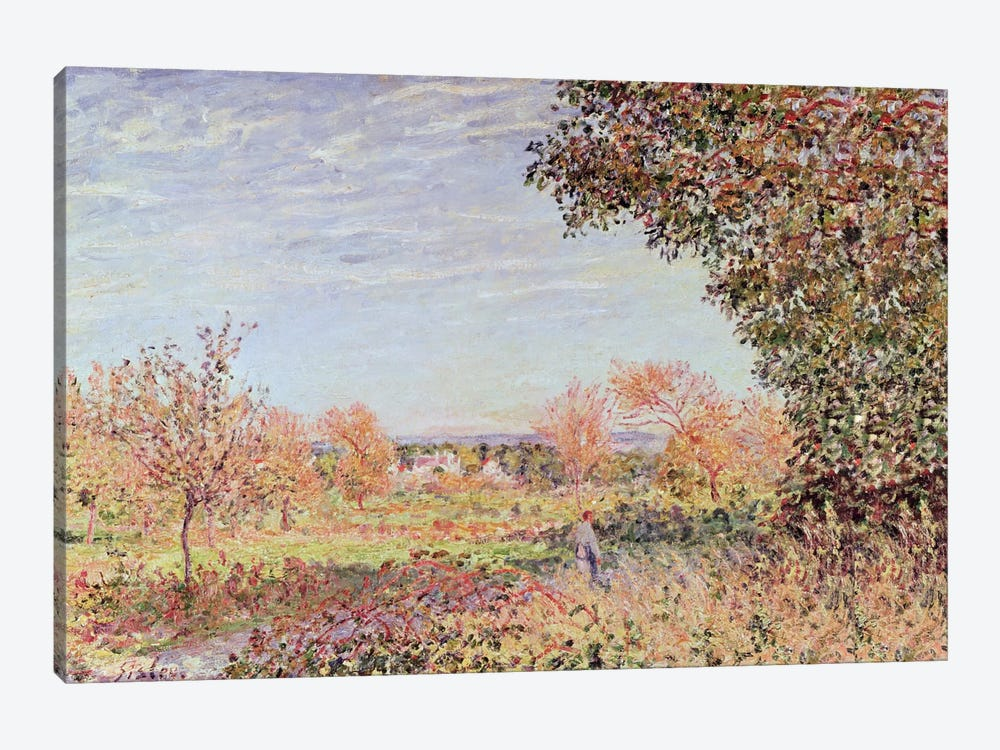 September Morning, c.1887 by Alfred Sisley 1-piece Canvas Art Print