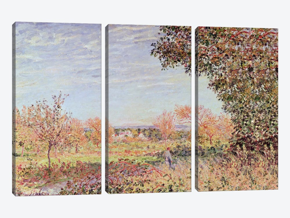 September Morning, c.1887 by Alfred Sisley 3-piece Art Print