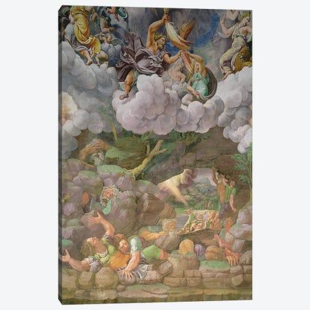 Detail Of The South Wall, Fall Of The Giants Fresco, Sala dei Giganti, 1530-34 Canvas Print #BMN11640} by Giulio Romano Canvas Artwork