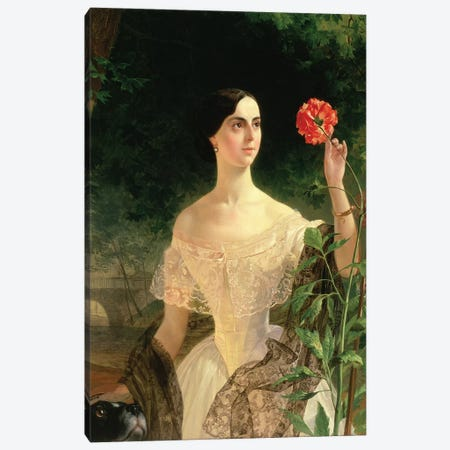 Portrait of Sofia Andreyevna Shuvalova  Canvas Print #BMN1164} by Karl Pavlovich Bryullov Canvas Wall Art