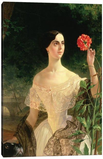 Portrait of Sofia Andreyevna Shuvalova  Canvas Art Print