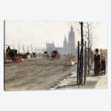 Veduta di Londra (The Victoria Embankment, London), 1875 Canvas Print #BMN11653} by Giuseppe de Nittis Canvas Art Print