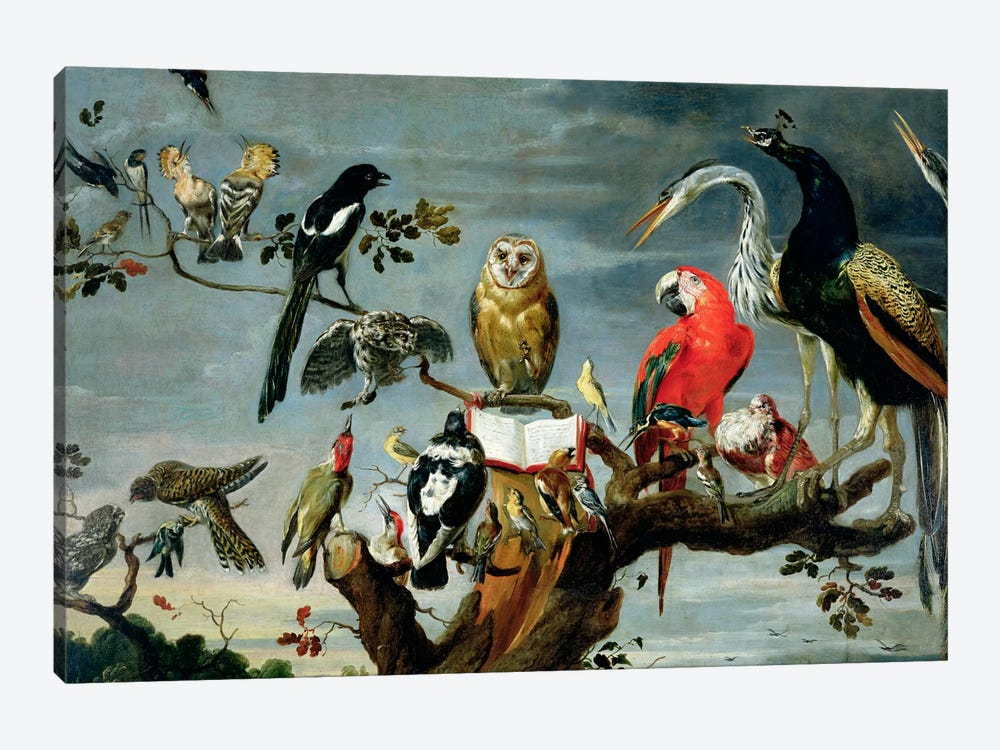 Concert of Birds by Frans Snyders 1-piece Canvas Print