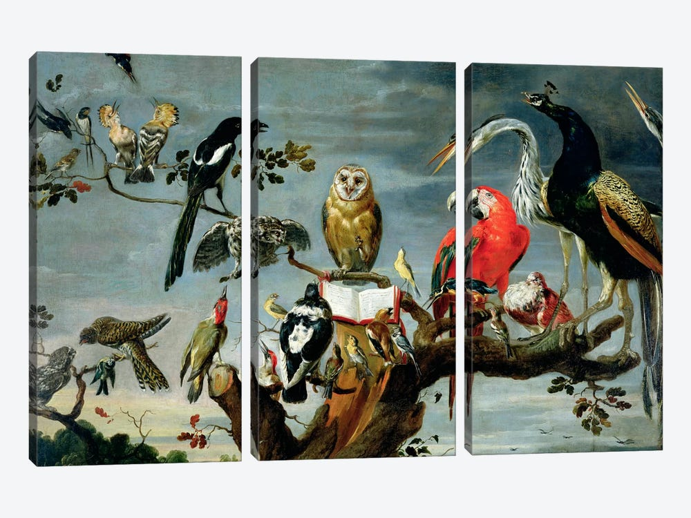 Concert of Birds by Frans Snyders 3-piece Canvas Art Print