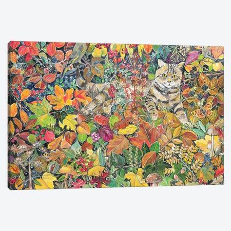 Tabby In Autumn, 1996 Canvas Print #BMN11662} by Hilary Jones Canvas Art