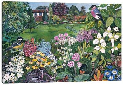 The Garden With Birds And Butterflies Canvas Art Print