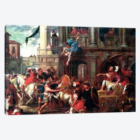 The Death Of Jezebel (circle of Giovanni Coli & Filippo Gherardi) Canvas Print #BMN11666} by Italian School Canvas Art Print