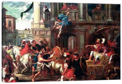 The Death Of Jezebel (circle of Giovanni Coli & Filippo Gherardi) Canvas Art Print