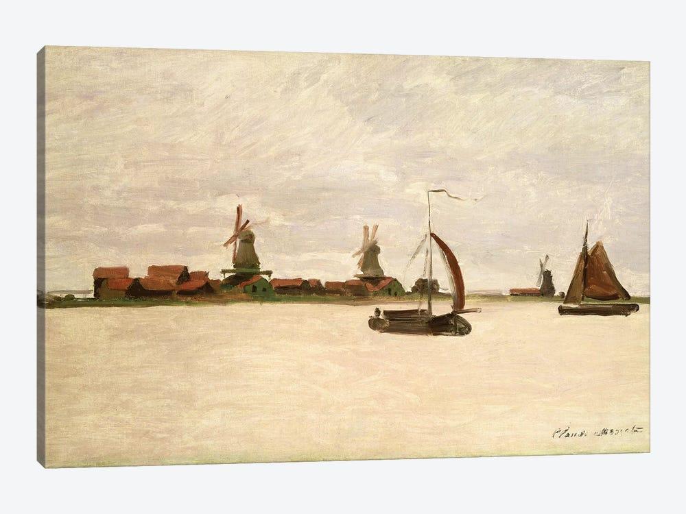 The Outer Harbour at Zaandam, 1871 by Claude Monet 1-piece Canvas Artwork