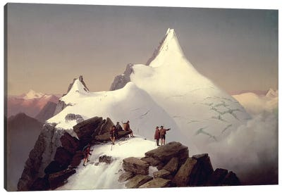 View of the 'Grossglockner' mountain  Canvas Art Print