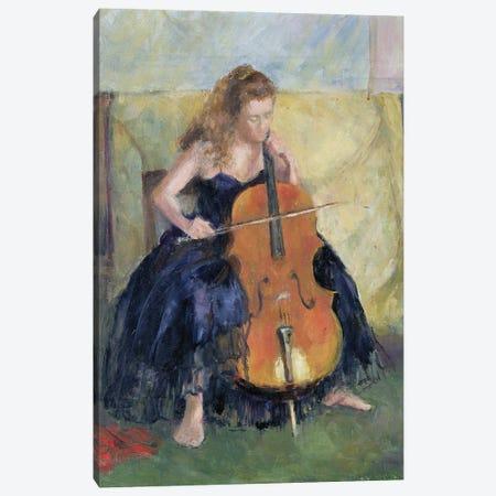 The Cello Player, 1995 Canvas Print #BMN11680} by Karen Armitage Canvas Art