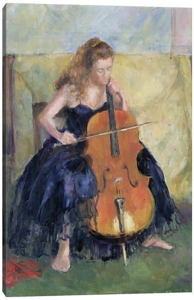 The Cello Player, 1995 Canvas Art Print