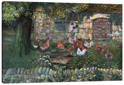 Hen House, 1988 Canvas Art Print