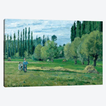 Haymaking, 1874  Canvas Print #BMN1168} by Camille Pissarro Canvas Art Print