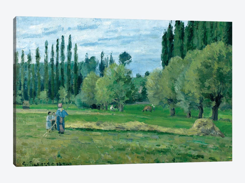 Haymaking, 1874  by Camille Pissarro 1-piece Canvas Art