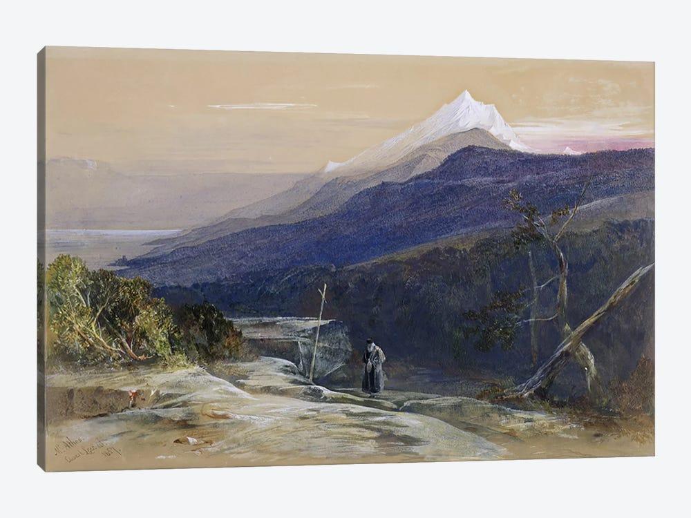 No.0950 Mount Athos, 1857  by Edward Lear 1-piece Canvas Art Print