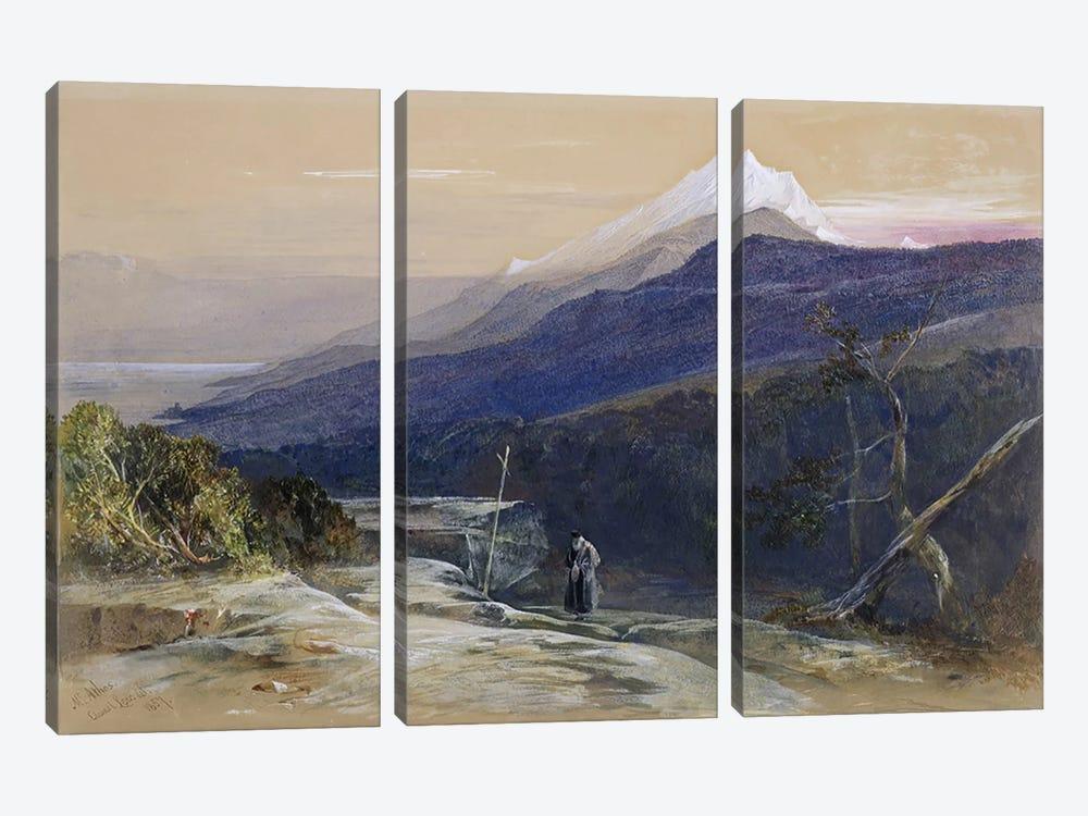 No.0950 Mount Athos, 1857  by Edward Lear 3-piece Art Print
