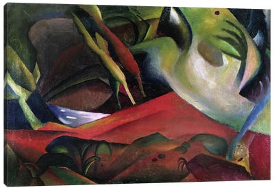 The Storm, 1911 (oil on canvas) by August Macke Art Print