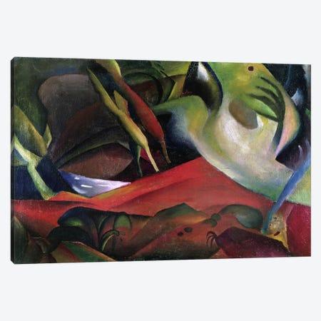 The Storm, 1911 (oil on canvas) Canvas Print #BMN116} by August Macke Art Print