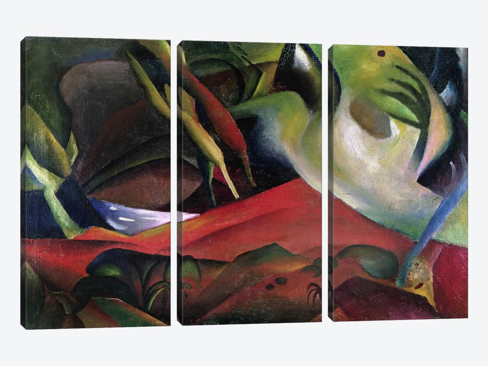 The Storm, 1911 (oil on canvas) by August Macke 3-piece Art Print