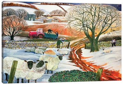 Winter Woolies Canvas Art Print