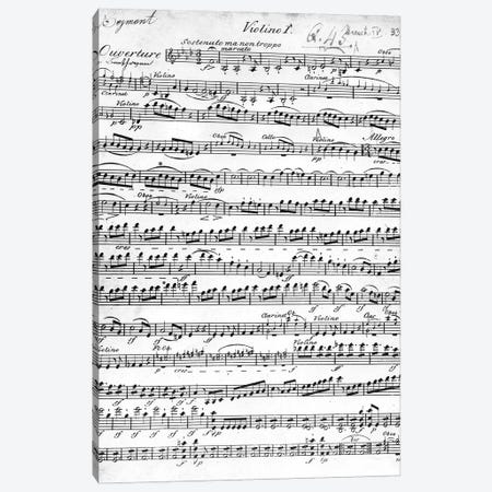 Sheet Music For The Overture To Egmont, c.1809-10 Canvas Print #BMN11702} by Ludwig van Beethoven Art Print