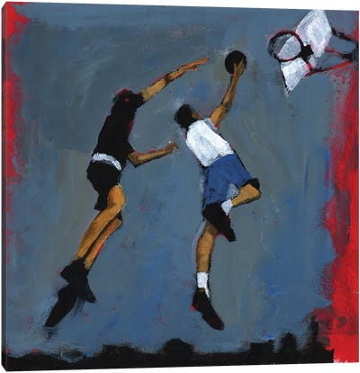 Basketball Players, 2009 Canvas Art Print