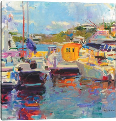 Bermuda Yachts Canvas Art Print