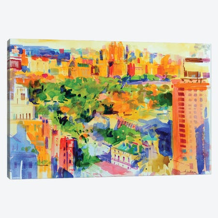 Central Park From The Carlyle Canvas Print #BMN11719} by Peter Graham Canvas Artwork